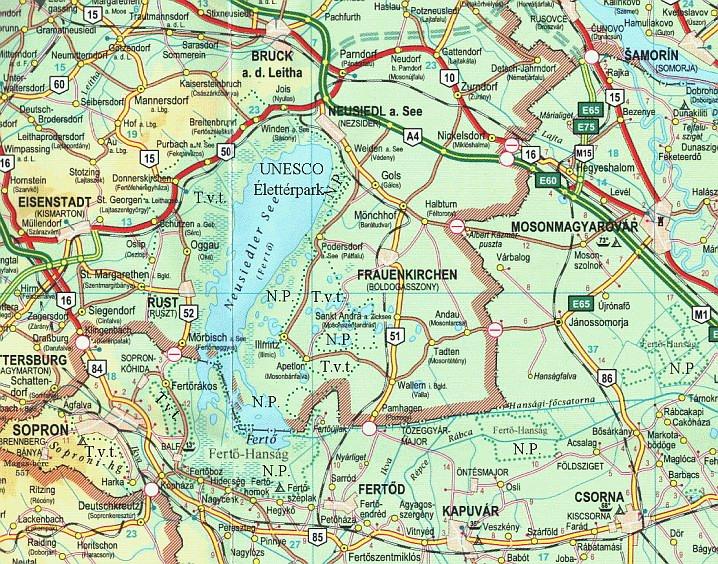fertő tó ausztria térkép Osztrák magyar fenntartható közlekedésfejlesztés: mobilitási  fertő tó ausztria térkép