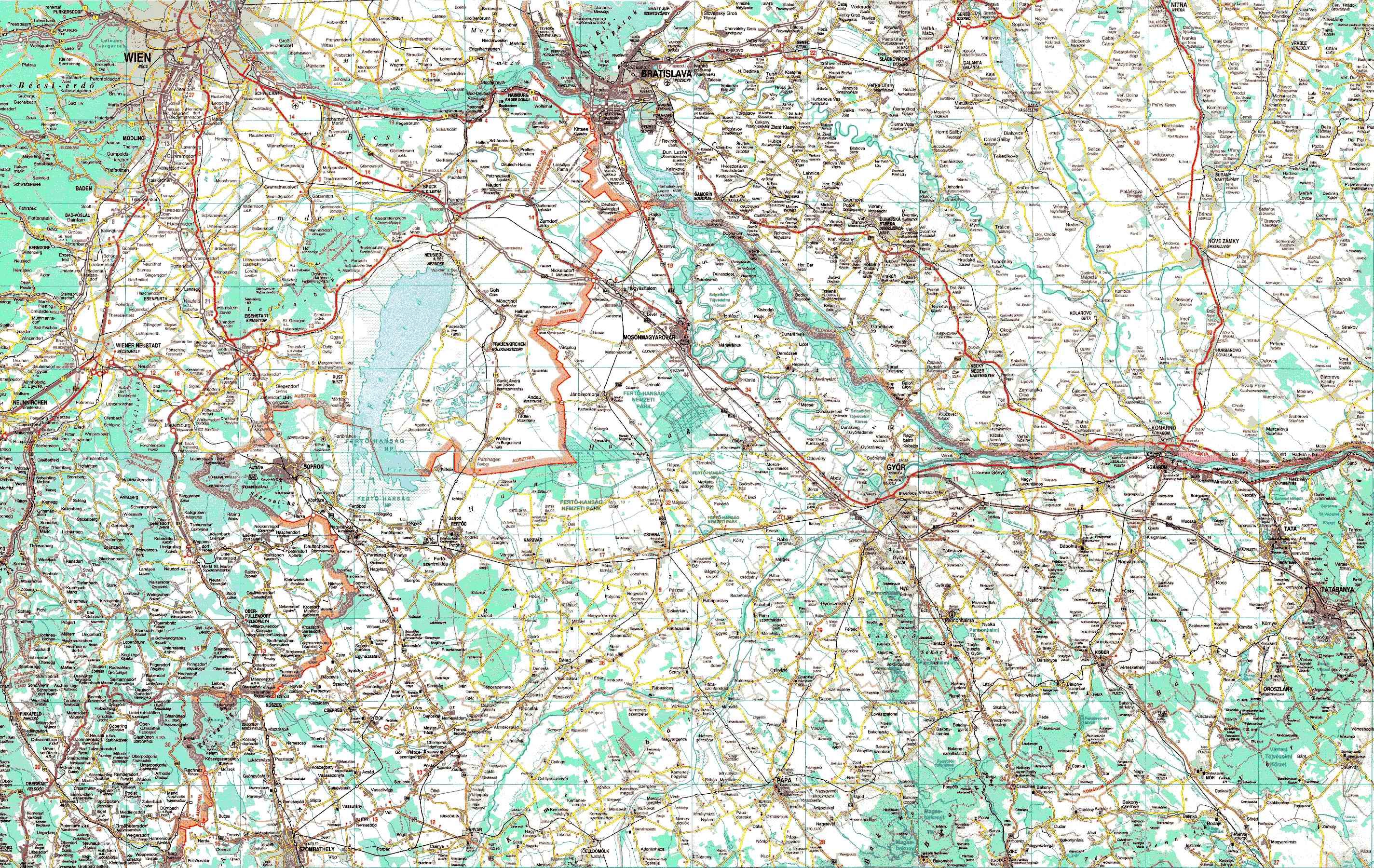 sopron domborzati térkép A .arc.sze.hu betétlapja) sopron domborzati térkép