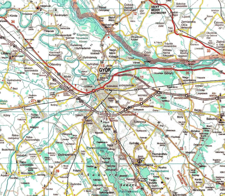 győr térkép Települések, térképek, légifotók