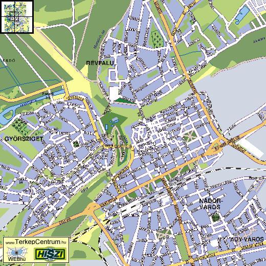 győr térkép A város térképe